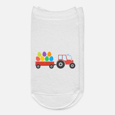 Greeting Easter Tractor - Ankle Socks