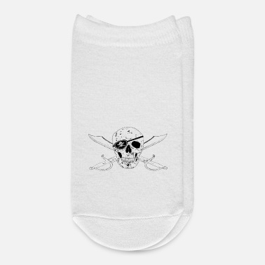 Pirate Flag Pirate Flag Jolly Roger w Eyepatch right - Ankle Socks