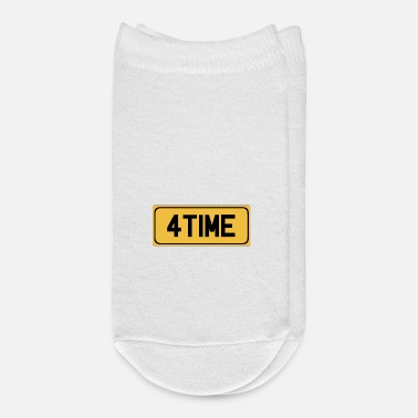 Snatch For Time Licence Plate - Ankle Socks