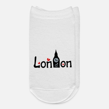 Graphic Art London txt bigben vector graphic art - Ankle Socks
