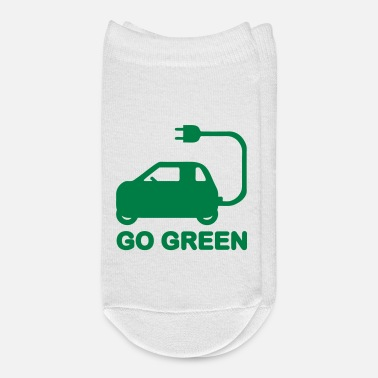 Electricity GO GREEN ~ DRIVE ELECTRIC VEHICLES - Ankle Socks