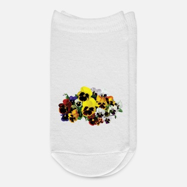 Large Mixed Pansies - Ankle Socks
