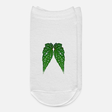 Leafy Angel Wings Digital Cartoon Lucky 6 Design - Ankle Socks