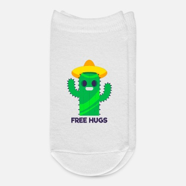 Irony Free hugs cactus with a sombrero - Ankle Socks