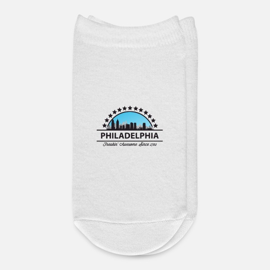 Philadelphia Socks - Philadelphia Pennsylvania Freaking Awesome 1701 - Ankle Socks white