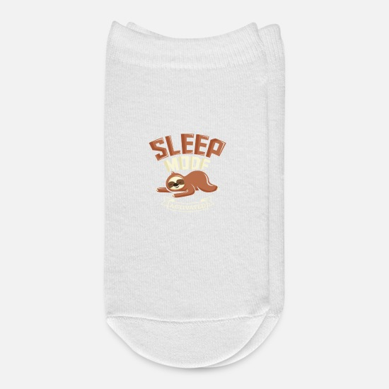 Birthday Socks - Sleep Mode Activated Cute Sloth - Ankle Socks white