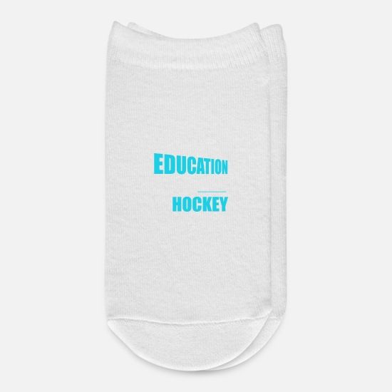 Hockey Socks - Funny Education Is Important Hockey Is Importanter - Ankle Socks white