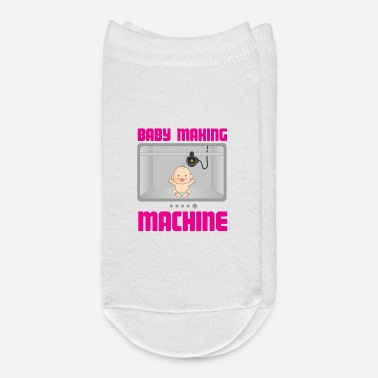 Pregnancy Pregnancy Reveal Announcement Baby Making Machine - Ankle Socks