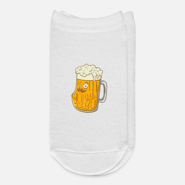 Mustache Cute & Funny Foaming Beer with Mustache - Ankle Socks