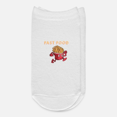 Sprinting Cute & Funny Fast Food Running French Fries - Ankle Socks
