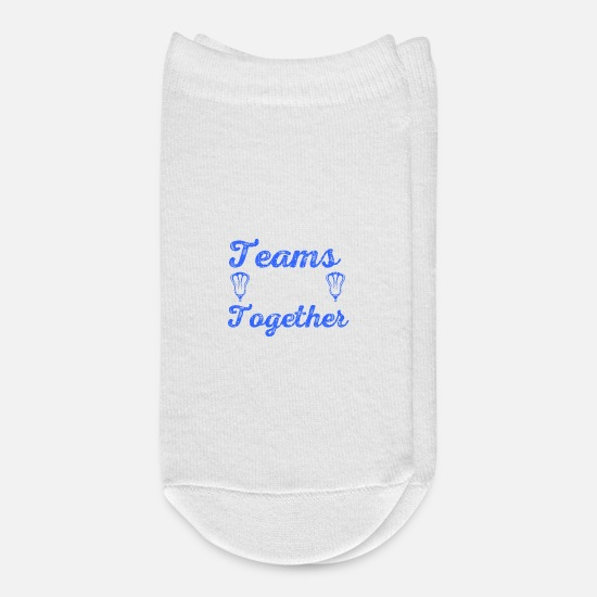 Lacrosse Player Socks - The Best Teams Stick Together Lacrosse Teammates - Ankle Socks white