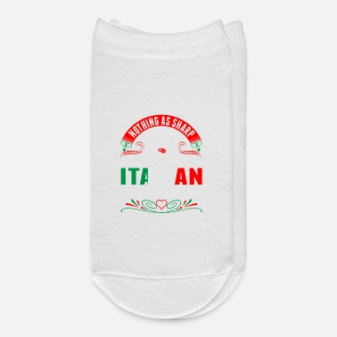 Italian In This World As A Proud Italian Woman's Tongue Ts - Ankle Socks