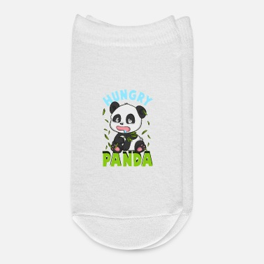 Hungry Cute Hungry Panda Always Hungry Funny Baby Panda - Ankle Socks