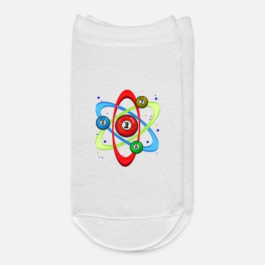 Atom Awesome Billiards Ball Atom Science Pool Player - Ankle Socks
