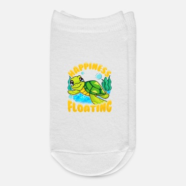 Sea Sea Turtle Happiness Is Floating In The Sea - Ankle Socks