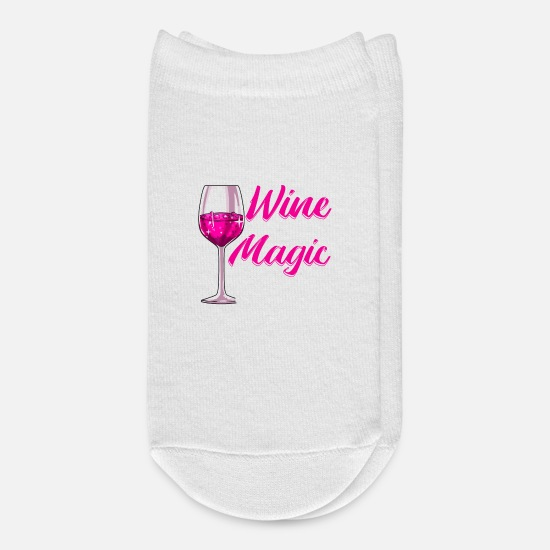 Alcohol Socks - Funny Wine Is My Magic Potion Halloween Wino Pun - Ankle Socks white