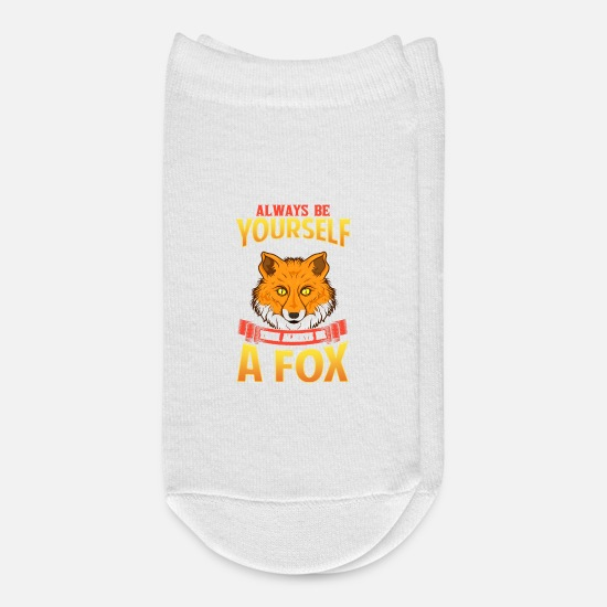 Always Socks - Always Be Yourself Unless You Can Be a Fox - Ankle Socks white