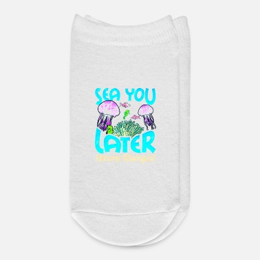 Biology Cute Sea You Later Marine Biologist Biology Pun - Ankle Socks