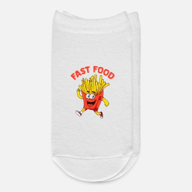 Sprinting Cute & Funny Fast Food Running French Fries Joke - Ankle Socks