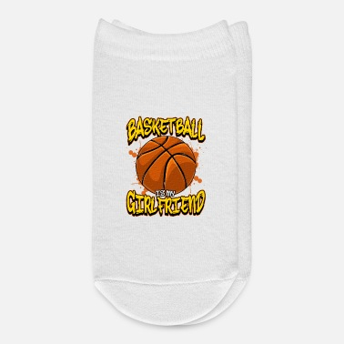 Court Basketball Is My Girlfriend Funny Bball Players - Ankle Socks
