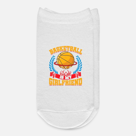 Birthday Socks - Basketball Is My Girlfriend Basketball Players - Ankle Socks white