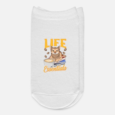 Revolver Cute Life Essentials Are Coffee, Books, and Cats - Ankle Socks