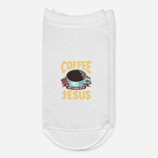 Coffee Socks - Cute All I Need Is Coffee And A Whole Lot Of Jesus - Ankle Socks white