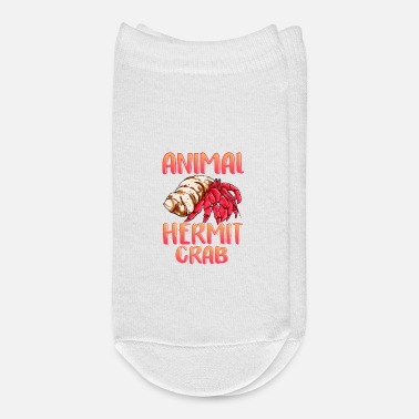 Crab My Spirit Animal Is a Hermit Crab Crustacean Pun - Ankle Socks