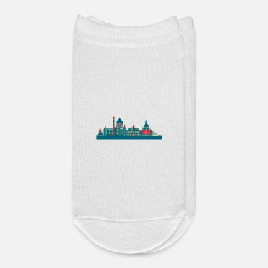 East Dresden skyline east germany saxony - Ankle Socks
