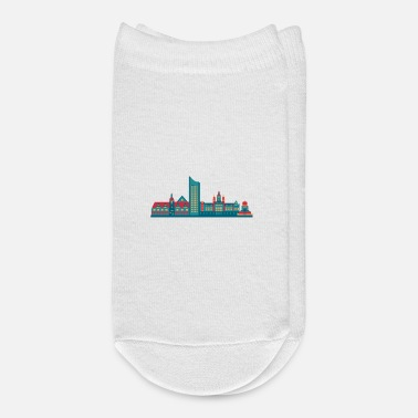 East City of Leipzig skyline east germany - Ankle Socks