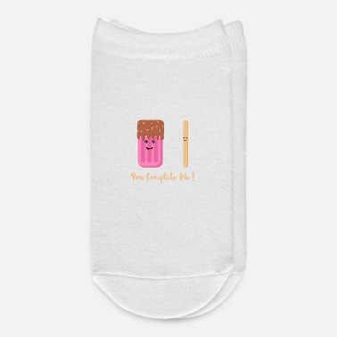 Funny Couples You Complete Me Ice Lolly Graphic - Ankle Socks