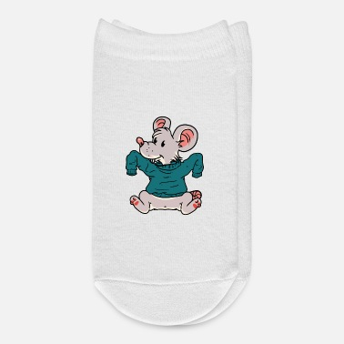 Rodent Baby mouse little rodent winter time - Ankle Socks