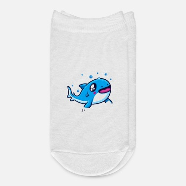 Cute Shark Sharks Hug Using Their Mouth Funny Shark Pun - Ankle Socks