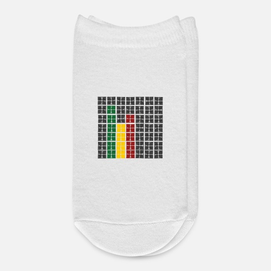 Octave Socks - rasta equalizer - Ankle Socks white