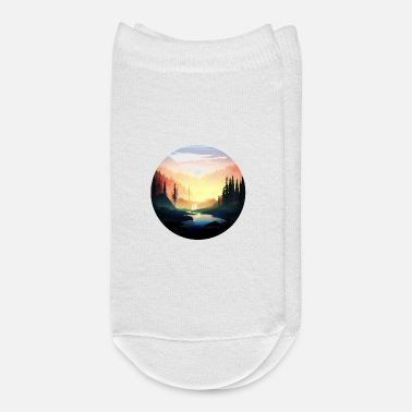 Landscape Beautiful nature at sunset - Ankle Socks