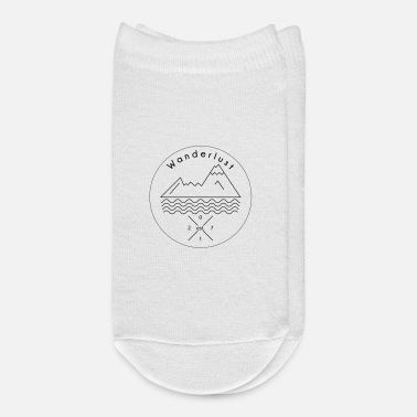 Alps Wanderlust moutains lake wave Watzmann alps gift - Ankle Socks