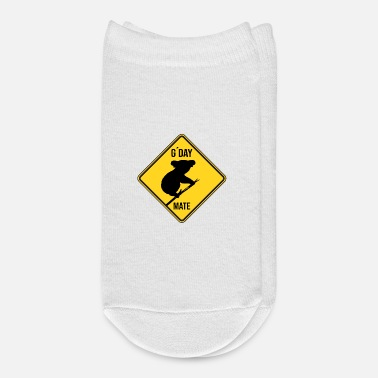 Road Sign Australia G'Day Mate Australia Koala Bear Vintage Road Sign - Ankle Socks