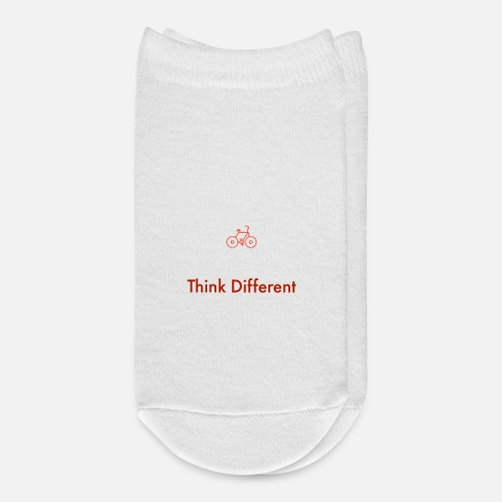 Think Socks - Cycling - Think Different - Save the Planet - Ankle Socks white