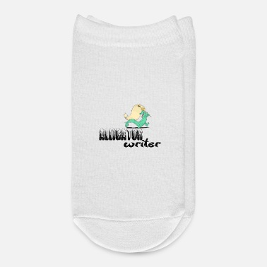 Birth Name alligator writer - Ankle Socks
