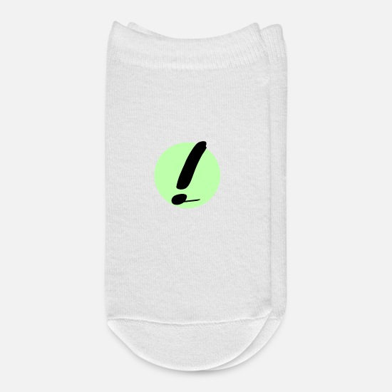 High School Graduate Socks - Exclamation mark Graffiti style in green - Ankle Socks white