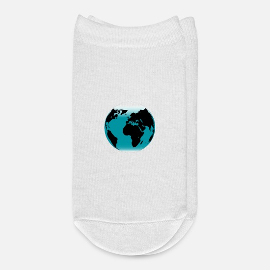 Earth Socks - The Planet Earth - Ankle Socks white