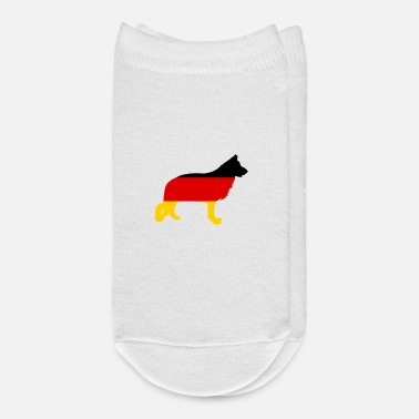 Schland German Shepherd Germany Flag Patriot Dog Lover - Ankle Socks