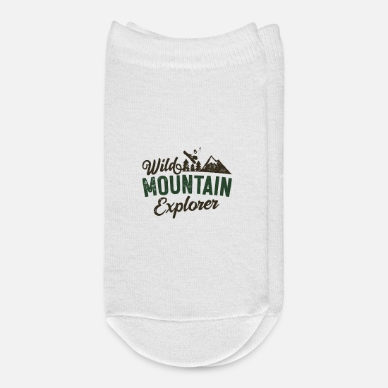 Mountain Biking Socks - Wild Mountain Explorer - Ankle Socks white