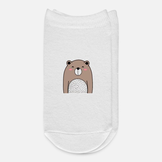 Quotes Socks - Cool Bear Vector Illustration - Ankle Socks white