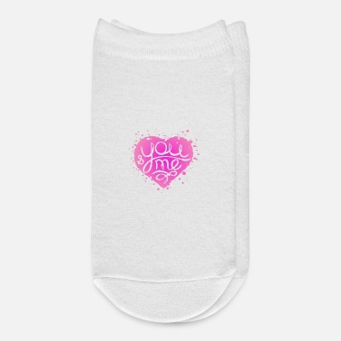 Wedding Day pink painted heart for wedding Valentine s Day - Ankle Socks