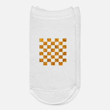 Golden (chess checkers draughts) glitter gold - Ankle Socks