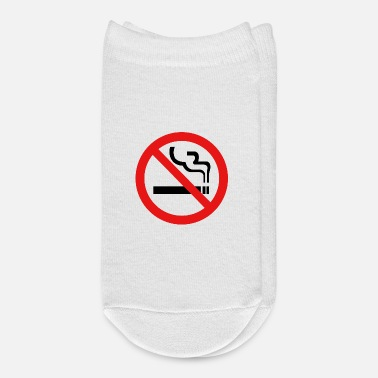 Prohibited Prohibition sign (pictogram) / No smoking - Ankle Socks