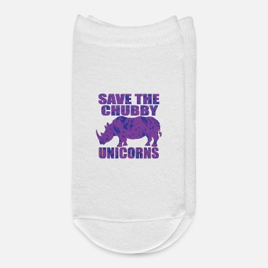 Save Save The Chubby Unicorns - Save the Rhinos - Ankle Socks