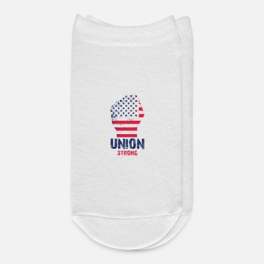 Union Strong Vintage USA Flag Proud Labor Day - Ankle Socks
