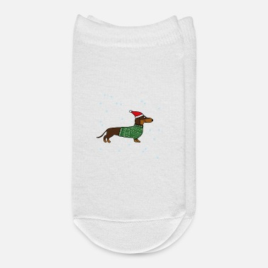 Christmas dachshund sausage dog xmas - Ankle Socks